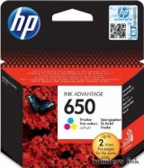 HP CZ102A Tintapatron Színes (HP 650) (Eredeti)